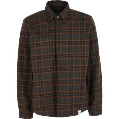 WRAD メンズ シャツ オーバーシャツ トップス The Over Shirt Checked Shirt Dark green