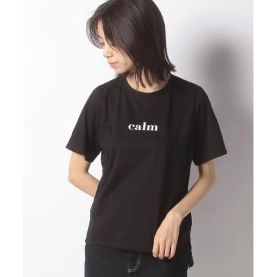 """【ラトカーレ】 """"calm""""ロゴTシャツ レディース ブラック M LATO*CALLE"""