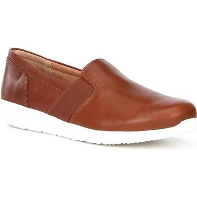 バイオニック Vionic レディース スリッポン・フラット ウェッジソール シューズ・靴 Gianna Leather Gored Side Wedge Slip Ons Mocha