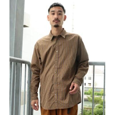 【アウトレット】BEAMS / ミニタータンチェック ルーズフィット ミニレギュラーカラーシャツ