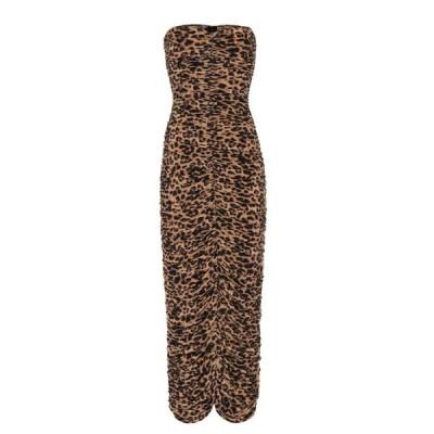 ノーマ カマリ Norma Kamali レディース ワンピース ワンピース・ドレス slinky leopard-print strapless dress Golden Leopard