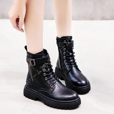 レディース ブーツ ショートブーツ 歩きやすい 袴ブーツ 編み上げブーツ 大きいサイズ サイドジップ 厚底 エンジニアブーツ カジュアルブーツ 防寒 防水 防滑