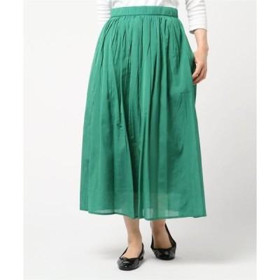 スカート シャイニービスコースコットンマキシスカート