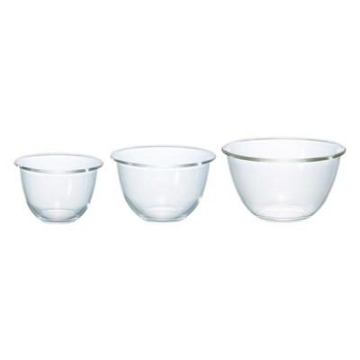 HARIO(ハリオ) 耐熱ガラス製ボウル 3個セット
