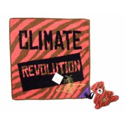 新品同様 廃盤 Vivienne Westwood ヴィヴィアンウエストウッド クリメートレヴォリューションパイルハンカチーフテディベアチャーム付 09