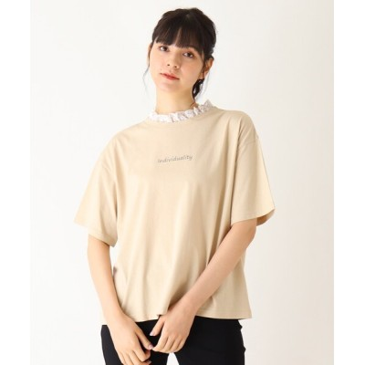 SHOO・LA・RUE / 【S-L】襟レースTシャツ WOMEN トップス > Tシャツ/カットソー