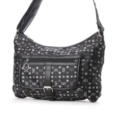 サボイ SAVOY サボイのモノグラムロゴ柄のバッグ (ブラック)