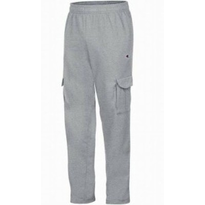 Cargo カーゴ ファッション パンツ Champion NEW Gray Mens Size Medium M Powerblend Fleece Cargo Pants