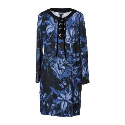 ジャストカヴァリ JUST CAVALLI ミニワンピース&ドレス ブルー 38 97% レーヨン 3% ポリウレタン ミニワンピース&ドレス