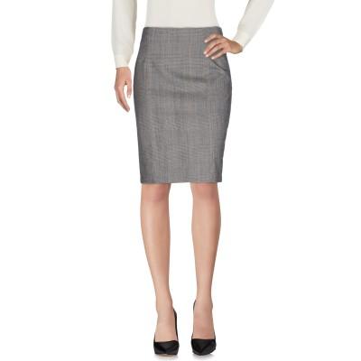 ラブ モスキーノ LOVE MOSCHINO ひざ丈スカート グレー 42 バージンウール 98% / ポリウレタン 2% ひざ丈スカート