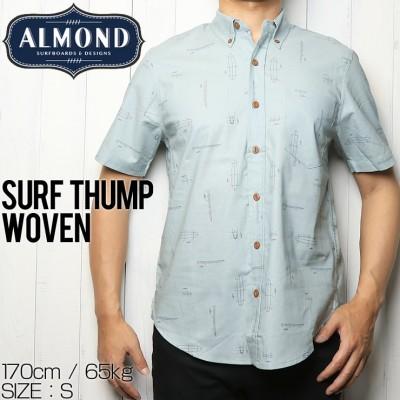 [クリックポスト対応] ALMOND SURF アーモンドサーフ SURF THUMP WOVEN 半袖シャツ(M)