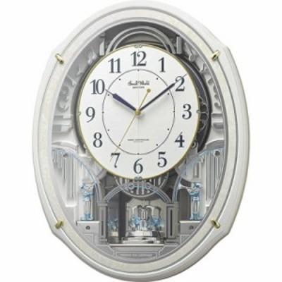 リズム時計 電波からくり時計 スモールワールドアルディN 4MN553RH03