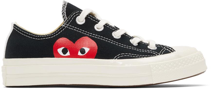 Comme des Garçons Play 黑色 Converse 联名 Chuck 70 Half Heart 运动鞋