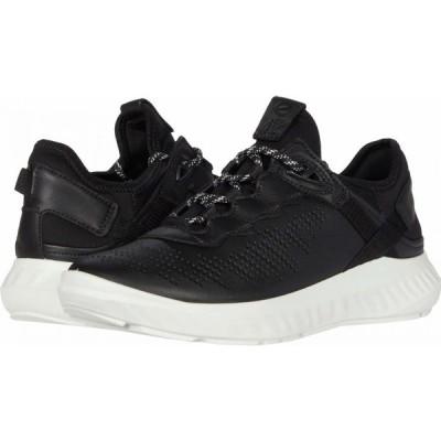 エコー ECCO レディース スニーカー シューズ・靴 ST.1 Lite Sneaker Black/Black Cow Leather/Textile