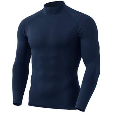 (テスラ)TESLA [防寒・保温] 長袖ハイネック 冬用起毛 コンプレッションウェア パワーストレッチ スポーツシャツ [UVカット・吸汗速乾] Y