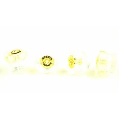 【新品】K18YGイエローゴールド ダブルロックフィットピアスキャッチ ダブルロックフィット式 ご注文数量1で2ペア分4個販売 18金 イエロ