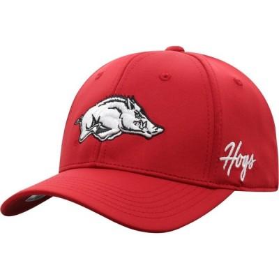 トップオブザワールド Top of the World メンズ キャップ 帽子 Arkansas Razorbacks Cardinal Phenom 1Fit Flex Hat