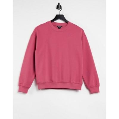 モンキ レディース シャツ トップス Monki Nana organic cotton sweatshirt in pink
