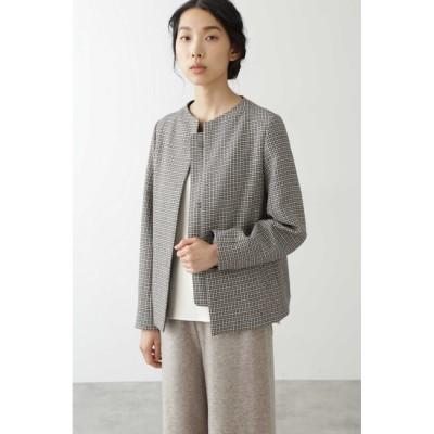 【ヒューマンウーマン/HUMAN WOMAN】 ◆≪Japan Couture≫無染色ウールブルゾン