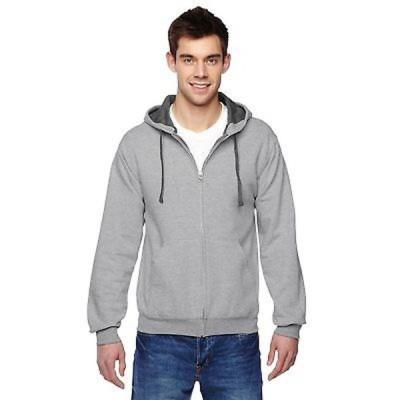 メンズアウターウエア アンブランディッド Men's Big and Tall Sofspun Full-Zip Athletic Heather Hooded Sweatshirt
