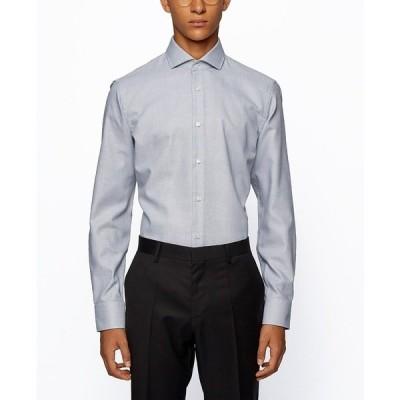 ヒューゴボス シャツ トップス メンズ BOSS Men's Jason Slim-Fit Shirt Black