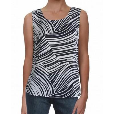 レディース 衣類 トップス Women's Shirt Large Petite Zebra Print Tank Blouse PL タンクトップ