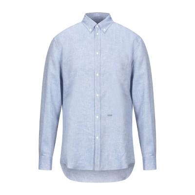 ディースクエアード DSQUARED2 シャツ アジュールブルー 48 リネン 100% シャツ