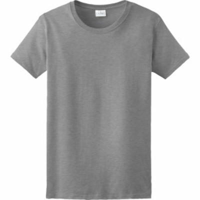 ギルダン Gildan レディース Tシャツ トップス Team Ultra Cotton 6oz. T-Shirt Sport Grey