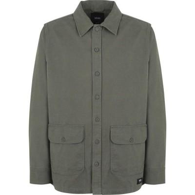 ヴァンズ VANS メンズ シャツ トップス mn winchester grape leaf solid color shirt Military green