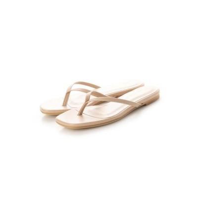 シューファンタジー Shoe Fantasy フラットトングサンダル (pinkbeige)