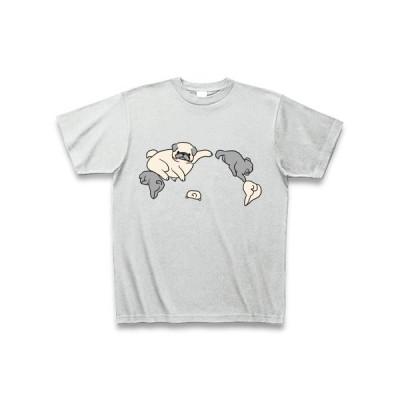 パグ大陸(文字なし) Tシャツ Pure Color Print(アッシュ)