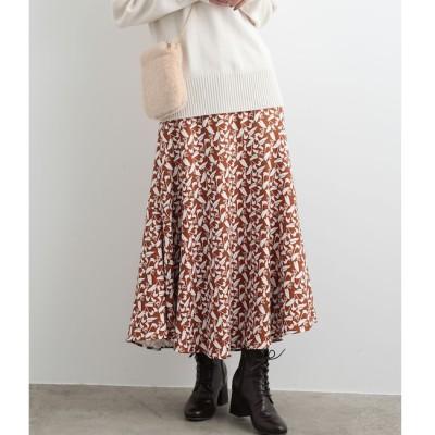 【ビス/ViS】 フラワーAラインロングスカート