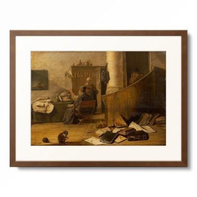 ダフィット・テニールス(子) David Teniers de Jonge 「A physician examining an urinal in his study.」