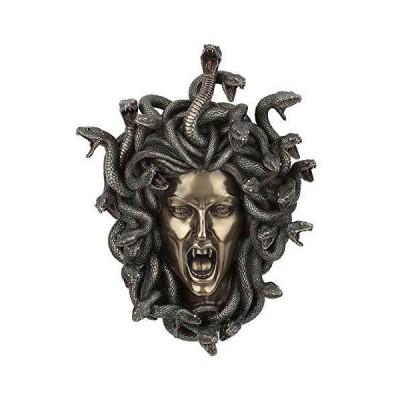 XoticBrands メデューサの頭の壁飾り - ホームアクセント - コールドキャストブロンズ彫刻【並行輸入品】