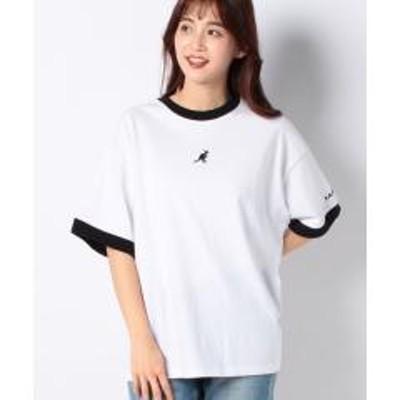 JEANS MATE(ジーンズメイト)【KANGOL】リンガーTシャツ