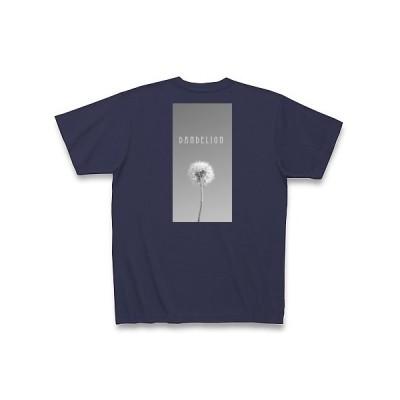 タンポポの綿毛の白黒写真 Tシャツ Pure Color Print(メトロブルー)