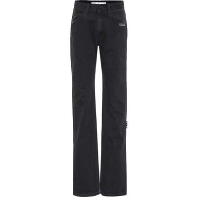 オフホワイト Off-White レディース ジーンズ・デニム ボトムス・パンツ Mid-rise flared jeans Black Blue