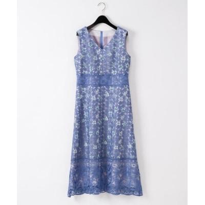 GRACE CONTINENTAL / ケミカルレースフラワードレス WOMEN ワンピース > ドレス