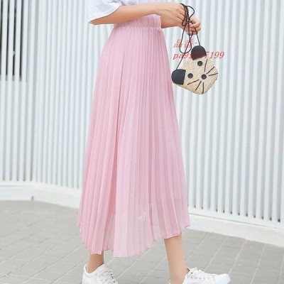 ペールトーン フレアスカート ミモレ丈 おしゃれ ママファッション かわいい レディースファッション カジュアル スカート シンプル