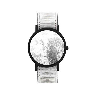 South Lane Stainless Steel Swiss-Quartz Watch with Leather Calfskin Strap, Black, 20 (Model: AW18-2-19) 並行輸入品