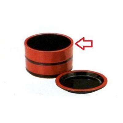 そば用食器 3.3寸桶型つゆ入れ 朱黒ひも f6-840-20