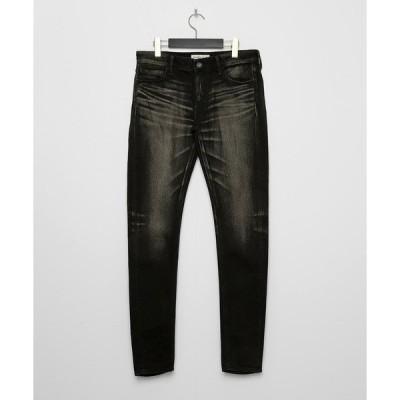 パンツ デニム ジーンズ Black kneedle Leg skinny Denim pants 〜JAPAN MADE〜