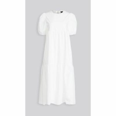 エン セゾン En Saison レディース ワンピース ポプリン ワンピース・ドレス Poplin Midi Dress Off White