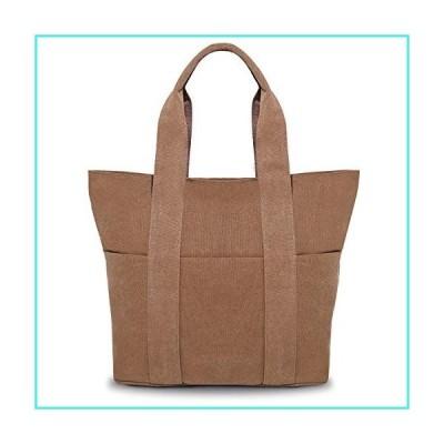 【新品】Women's Large Canvas Tote Shoulder Handbag Travel Bag(並行輸入品)