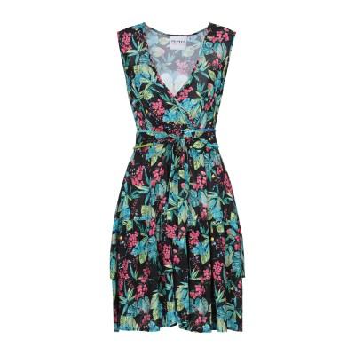 PEPITA ミニワンピース&ドレス ブラック 42 レーヨン 100% ミニワンピース&ドレス