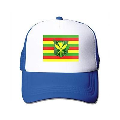 Kanaka Maoli Native Hawaiian Flag Adult Adjustable Mesh Hat Trucker Basebal