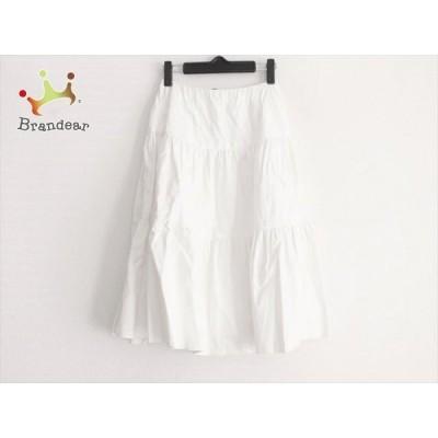 フォクシーニューヨーク FOXEY NEW YORK スカート サイズ38 M レディース - 白 ひざ丈   スペシャル特価 20210402