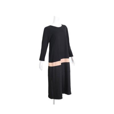 MARTHA(マーサ)ロングスリーブプリーツスカートドッキングワンピース (ワンピース)Dress