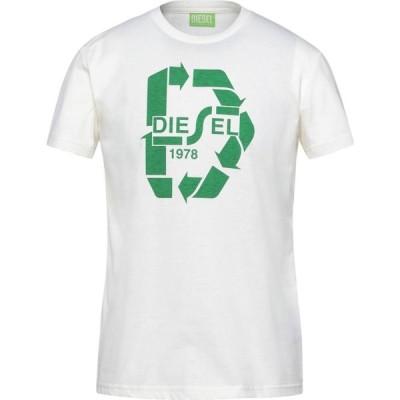 ディーゼル DIESEL メンズ Tシャツ トップス t-shirt Ivory