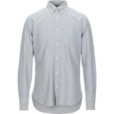 デペール DEPERLU メンズ シャツ トップス solid color shirt Light grey